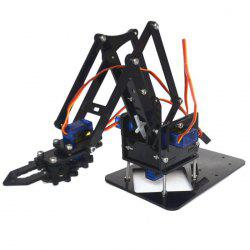 Kids Robot Arm Kit Educational DIY Assembled Robotic Claw Set without Servos and Motherboard -