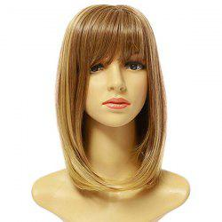 Female Fashion Pick Color Long Synthetic Wig -