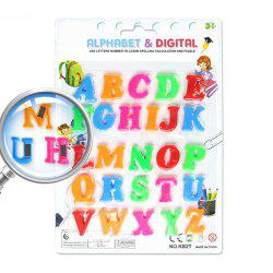 Color Digital Magnetic Letters Children's Educational Toys Russian Characters -