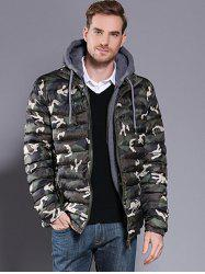 Camouflage Men's Hooded Parka -