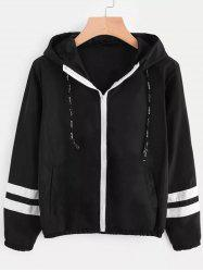 Double Striped Long Sleeve Hoodie -