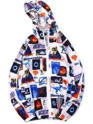 Hip-hop Harajuku Style Color Matching Camouflage Star Coat -