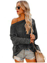 Women Stylish Sexy Off Shoulder Loose Knitting Shirt -