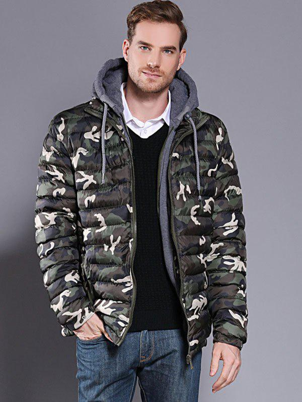 Unique Camouflage Men's Hooded Parka