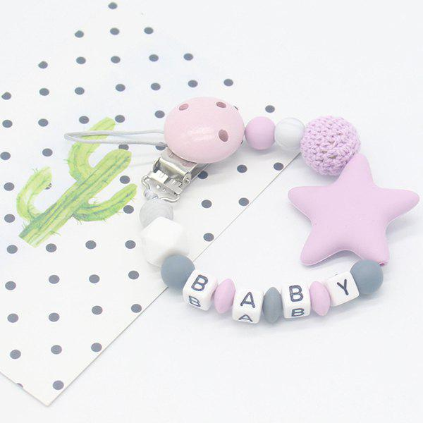 Shop Baby Products Silicone Nipple Clip Teeth Rubber Pacifier Chain