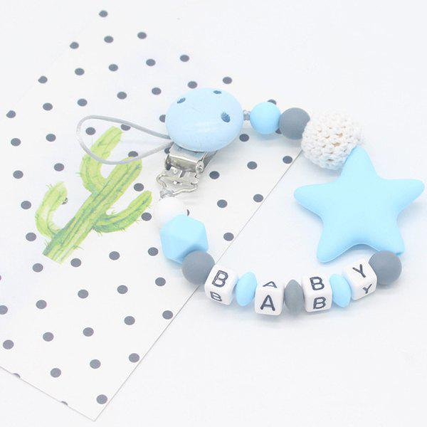 Hot Baby Products Silicone Nipple Clip Teeth Rubber Pacifier Chain