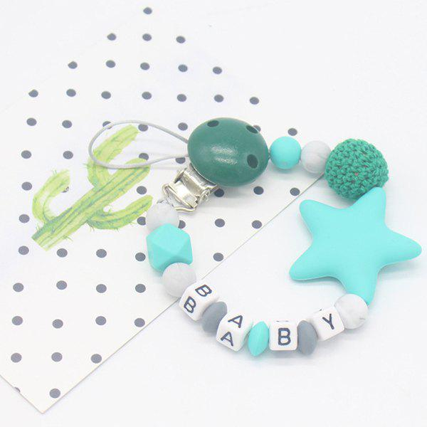 Fancy Baby Products Silicone Nipple Clip Teeth Rubber Pacifier Chain