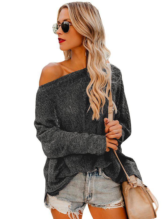 Fancy Women Stylish Sexy Off Shoulder Loose Knitting Shirt