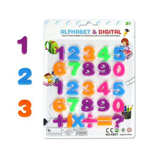 Best Color Digital Magnetic Letters Children's Educational Toys Russian Characters