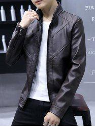 Fashion High Quality Solid Leather Men Jacket -