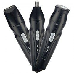 Multi-function Washable Rechargeable Three-in-one Electric Nose Hair Trimmer Handle Set -