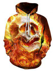 Autumn Winter 3D Flame Skull Hoodies -