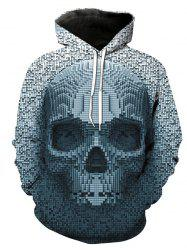 Autumn And Winter 3D Gray Skull Hooded Sweater -