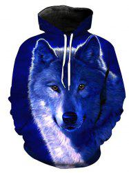 Autumn Winter 3D Little Wolf Hoodies -