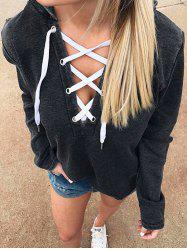 Sexy Long-sleeved V-neck Chest Strap Hoodies -