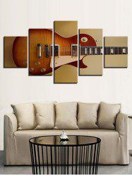 Music Guitar Print Split Unframed Canvas Paintings -
