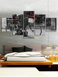 Bicycle Print Split Unframed Canvas Paintings -