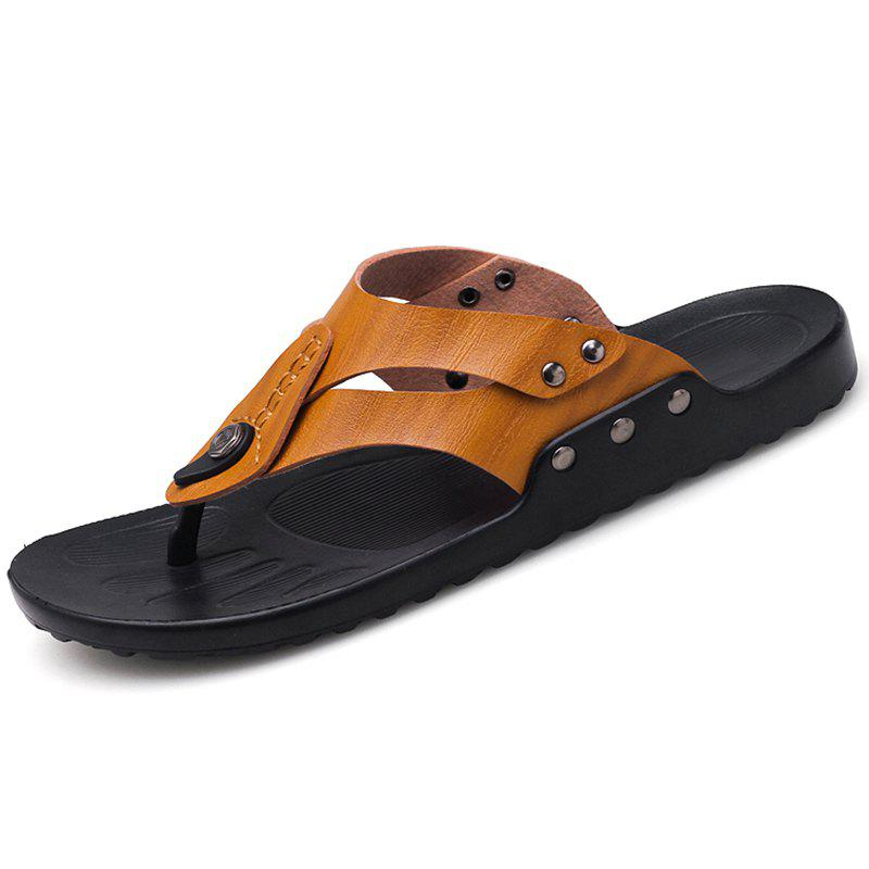 Shop Men's Personality Beach Slippers