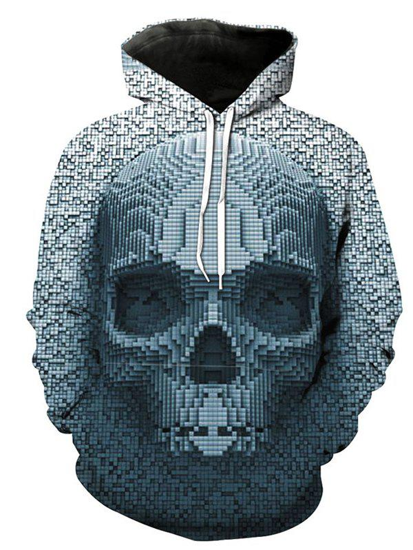 Affordable Autumn And Winter 3D Gray Skull Hooded Sweater