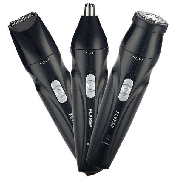 Best Multi-function Washable Rechargeable Three-in-one Electric Nose Hair Trimmer Handle Set
