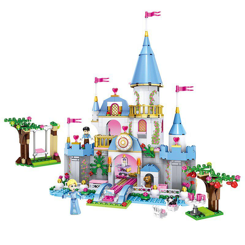 Latest Children's Educational Princess Castle Assembled Blocks