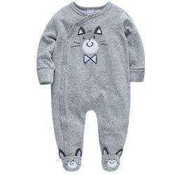 B - 023 Baby Boy Cartoon Climbing Suit -