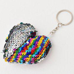 Creative Heart-shaped Sequin Pendant Keychain -
