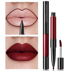 ML0027 Multifunctional 2-in-1 Lip Gloss Waterproof Lip Liner -