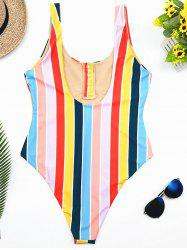 Striped Siamese Swimsuit -