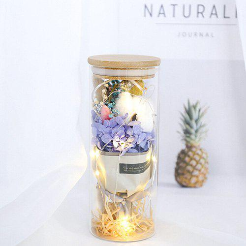 Cheap Flower Bouquet Glass Lamp Gift Valentine's Day Birthday Star Rose Home Decoration