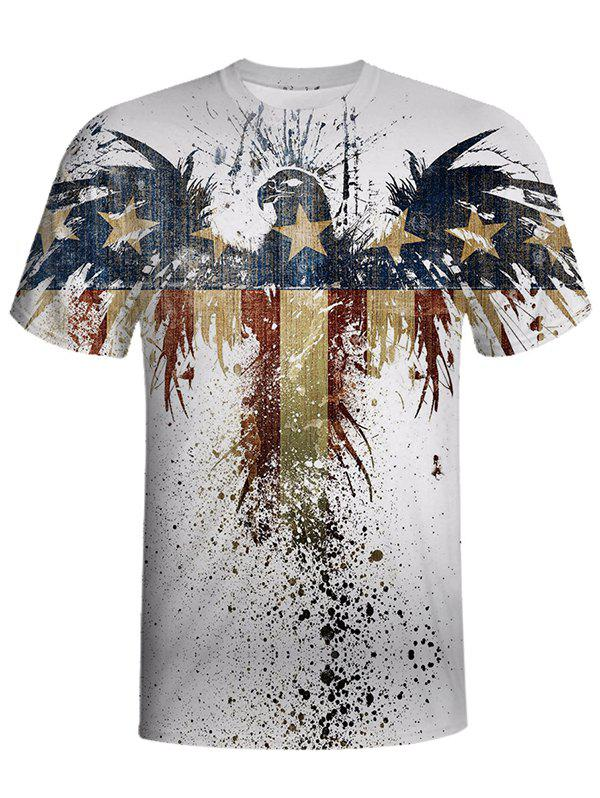 Best Men's Fashion Printed Round Neck Short-sleeved T-shirt