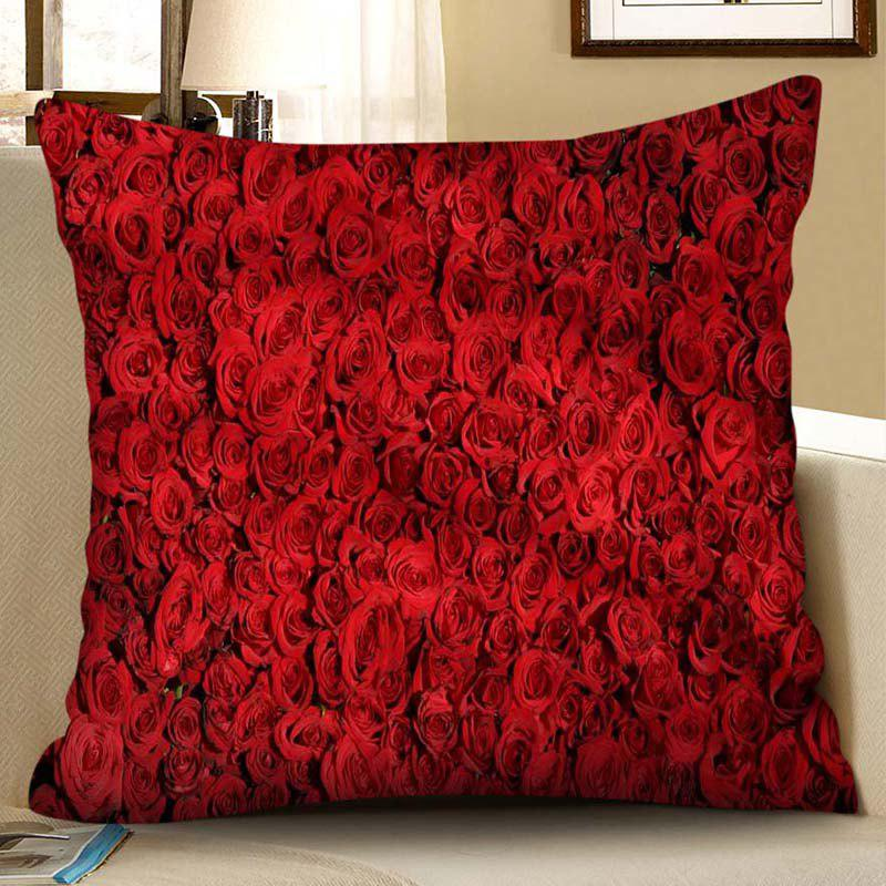 Discount Square Valentine Day Digital Printed Pillow Case