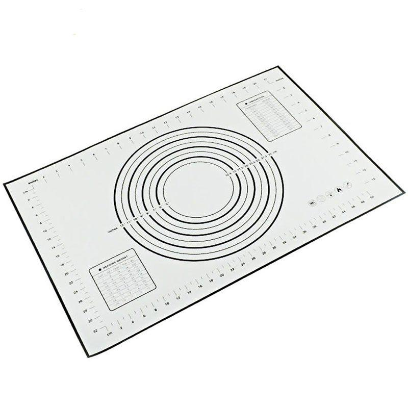 Trendy Silicone Pad with Scale Heat-resistant Anti-stick Non-slip Baking Tool