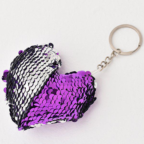 Discount Creative Heart-shaped Sequin Pendant Keychain