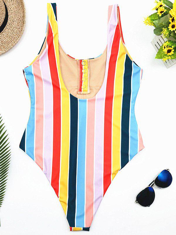 Hot Striped Siamese Swimsuit