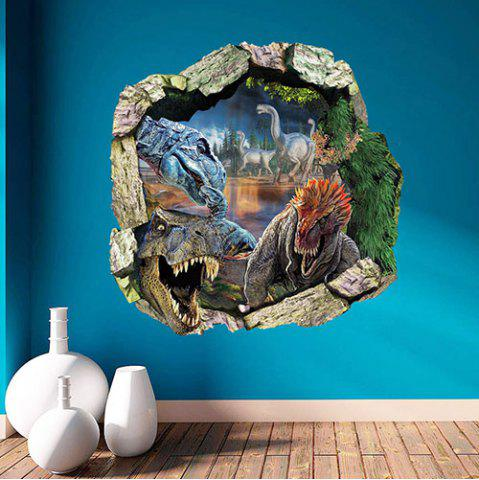 1439 Dinosaur Three-dimensional Broken 3D Effect Wall Sticker 54780fbc99