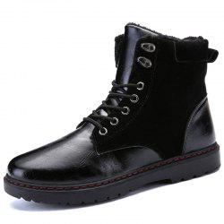 Men Stylish High-top Brushed Warmth Boots -