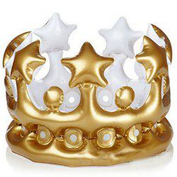 PVC Inflatable Green Crown Hat Children Birthday Party Decorations Props -