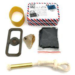 Wild Original Survival Ignition Kit Old-fashioned Fire Meteorite Carbon Cloth -