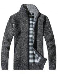 KS100 Stand Collar Casual Men's Sweater Cardigan -