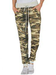 77139 Wild High Waist Camouflage Loose Casual Pants -