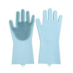Silicone Cleaning Brush Magic Gloves for Protecting -