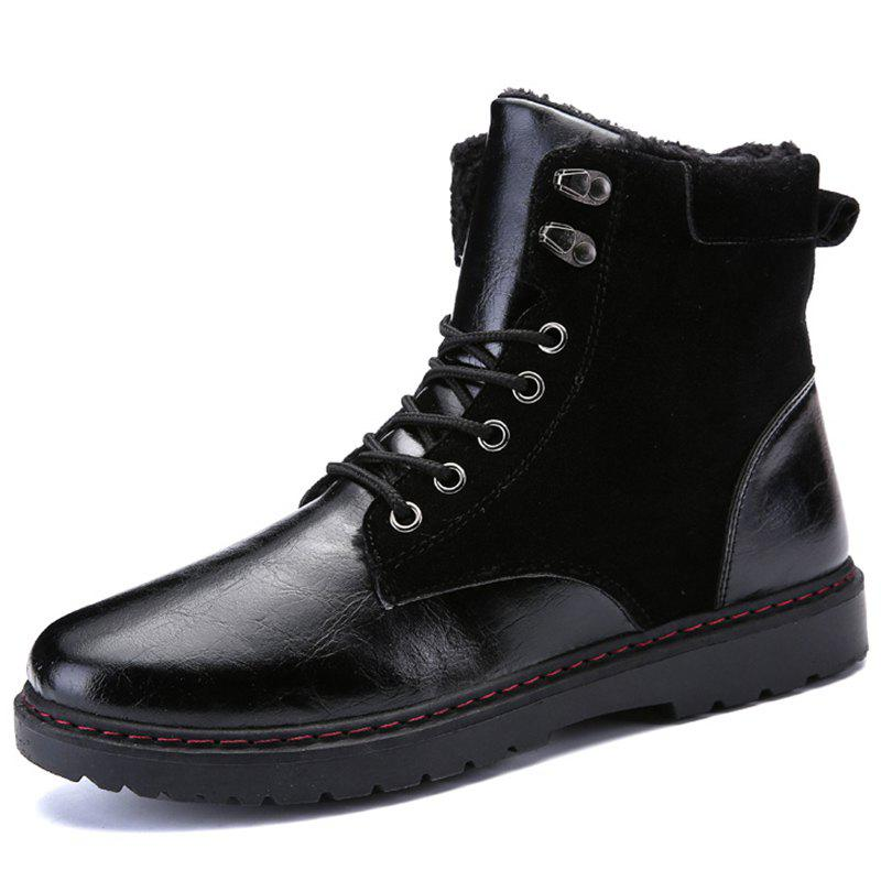 Cheap Men Stylish High-top Brushed Warmth Boots