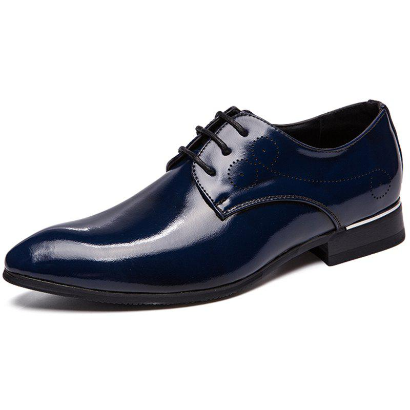 Cheap Business Tipped Color Lace-up Leather Formal Shoes