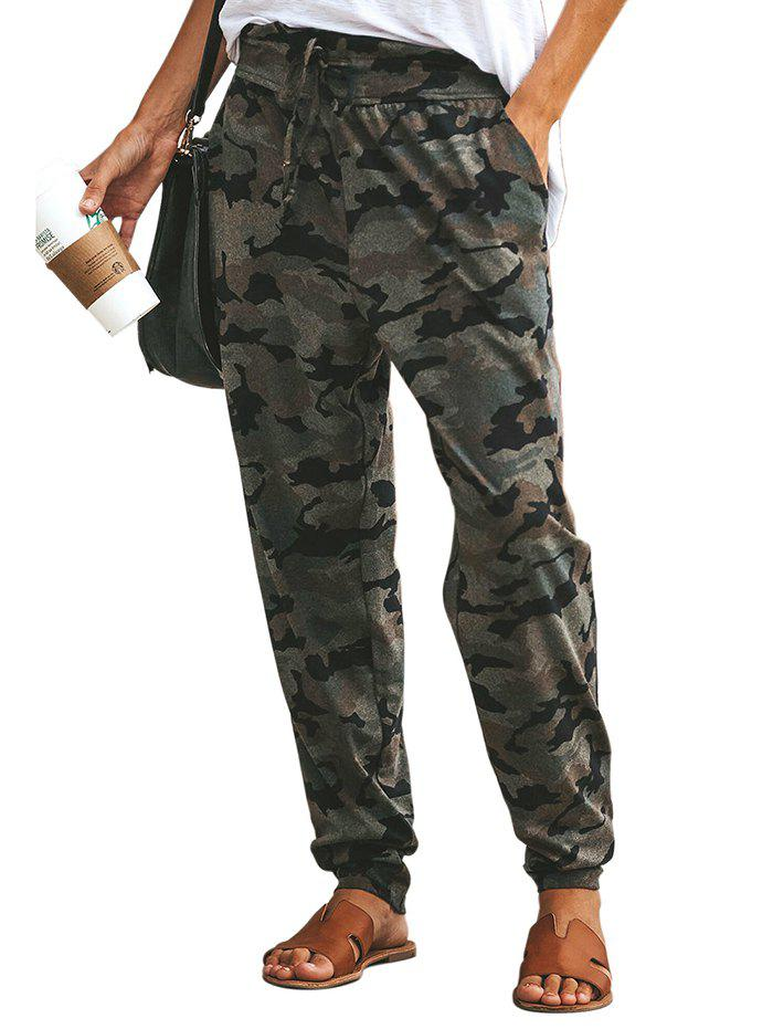 Shop 77139 Wild High Waist Camouflage Loose Casual Pants