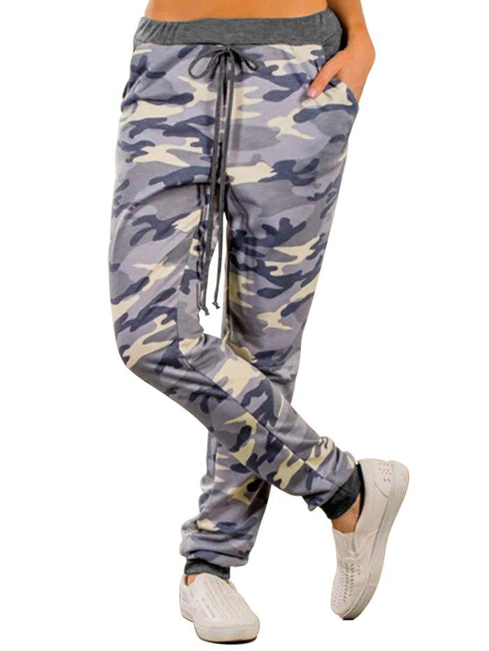 Latest 77139 Wild High Waist Camouflage Loose Casual Pants