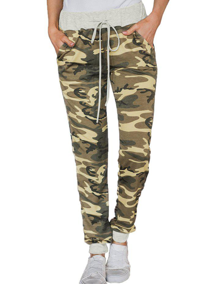 Unique 77139 Wild High Waist Camouflage Loose Casual Pants