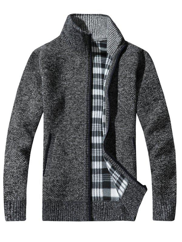 Sale KS100 Stand Collar Casual Men's Sweater Cardigan