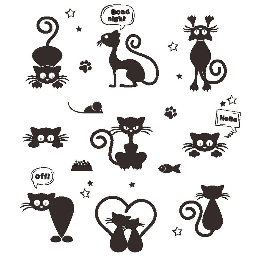 Outfits 288 Removable Cute Cat Wall Sticker