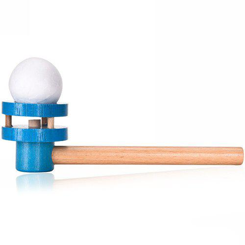 New Early Childhood Education Traditional Wooden Blowing Ball Toy